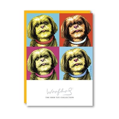 Woofhol Shih Tzu Note Card