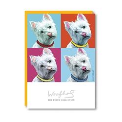 Woofhol Westie Note Card