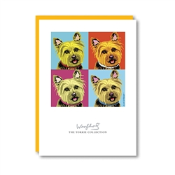 Woofhol Yorkshire Terrier Note Card
