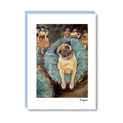 Dogas Pug Note Card