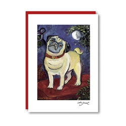 Chagrowl Pug Note Card