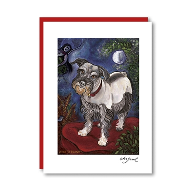 Chagrowl Schnauzer Note Card
