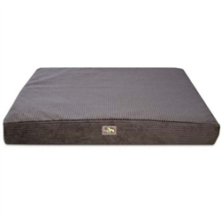Chocolate Corduroy Orthopedic Rectangle Bed