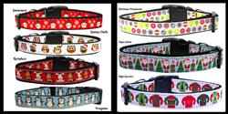 Christmas Collection Nylon Ribbon Collar & Leash