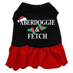 Aberdoggie Christmas Screen Print Two-Tone Dress