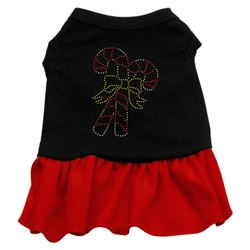 Candy Canes Rhinestone Two-Tone Dress
