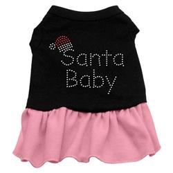 Santa Baby Rhinestone Two-Tone Dress