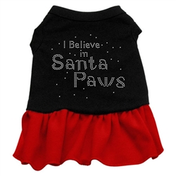 Santa Paws Rhinestone Two-Tone Dress
