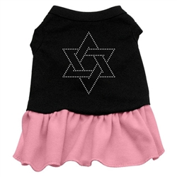 Star of David Rhinestone Two-Tone Dress