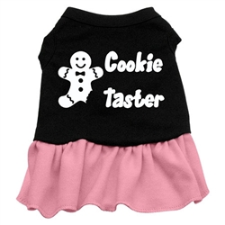Cookie Taster Screen Print Two-Tone Dress