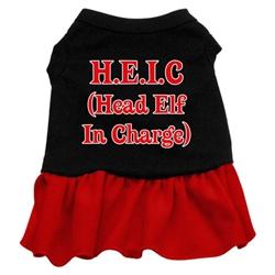 Head Elf in Charge Screen Print Two-Tone Dress