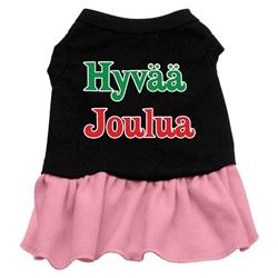Hyvaa Joulua Screen Print Two-Tone Dress