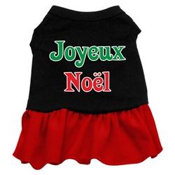 Joyeux Noel Screen Print Two-Tone Dress