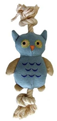SimplyFido - Basic Collection - Blue Owl Canvas Rope toy