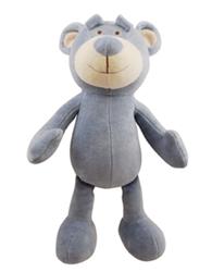"Simply Fido - Wally Bear 10"" Organic Plush Toy w/ Squeaker"