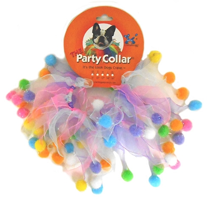 Birthday Pom Poms Party Collars by Charming Pet