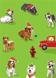9 Dogs & Fire Hydrant