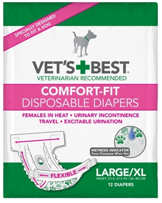 Comfort-Fit Disposable Female Diapers (12 Pack)