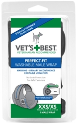 Perfect-Fit Washable Male Wrap (1 wrap)