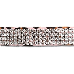Pink Cheetah Couture 4 Row Giltmore Collar