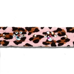 "Pink Cheetah Couture - 1/2"" Crystal Paw Print Collars"