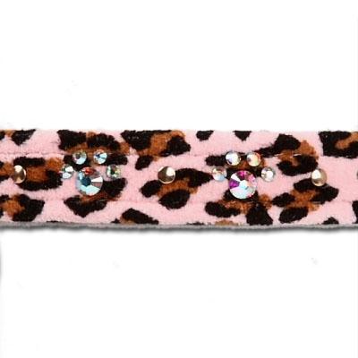 "Pink Cheetah Couture - 1/2"" Crystal Paw Print Collars"