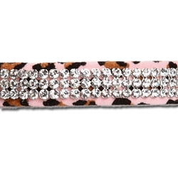 Pink Cheetah Couture 3 Row Giltmore Collar