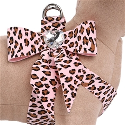 Pink Cheetah Couture - Tail Bow Heart Step-In Harnesses