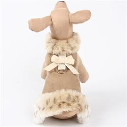 Camel, Cream Lynx, Velvet Bow