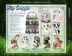 Dog Stars 8 Breed Keychain Charms & POP