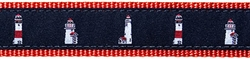 """Nantucket Lighthouse- 1.25"""" Collars, Leashes and Harnesses"""