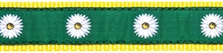 """Green Daisy - 3/4"""" Collars, Leashes and Harnesses"""