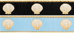 "Scallop Shell- 1.25"" Collars, Leashes and Harnesses"