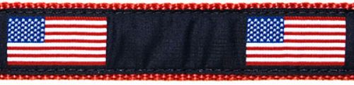 """American Flag- 3/4"""" Collars, Leashes and Harnesses"""