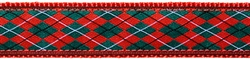 """Christmas Argyle - 1.25"""" Collars, Leashes and Harnesses"""