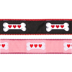 """Heart Bone- 1.25"""" Collars, Leashes and Harnesses"""