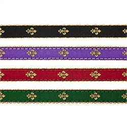 "Fleur de Lis- 1/2"" Collars, Leashes and Harnesses"