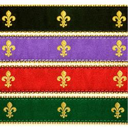"Fleur de Lis- 3/4"" Collars, Leashes and Harnesses"