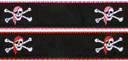 """Skull & Crossbones- 1.25"""" Collars, Leashes and Harnesses"""