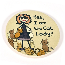 Cat Lady - Car Coaster