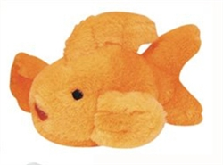 "6.5"" Look Who's Talking Dog Toy Goldfish by Multipet"