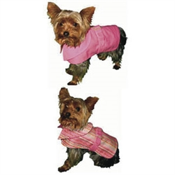 Pink Candy Stripe Reversible Trench