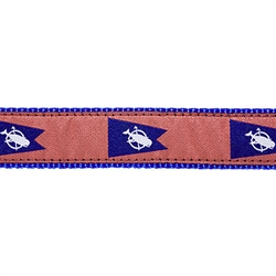 "Nantucket Pennant Flag - 1.25"" Collars, Leashes and Harnesses"