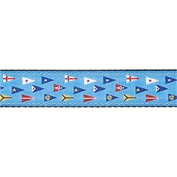"""Yacht Club Burgee - 3/4"""" Collars, Leashes and Harnesses"""