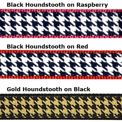 """Houndstooth - 3/4"""" Collars, Leashes and Harnesses"""