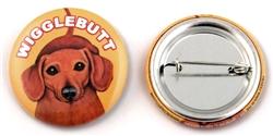 """""""Wigglebutt"""" Dachshund Buttons"""
