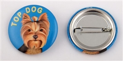 """Top Dog"" Yorkie Buttons"
