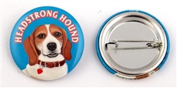 """Headstrong Hound"" Beagle Buttons"