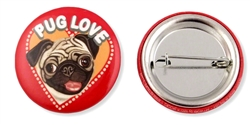 """Pug Love"" Buttons"