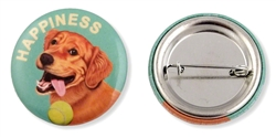 """Happiness"" Golden Retriever Buttons"